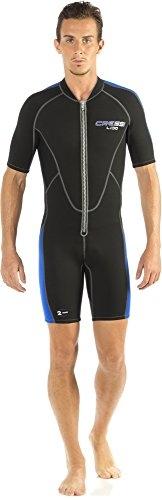 Cressi Herren Neopren Schwimmanzug Lido, schwarz/blau, XL, LV455005 -