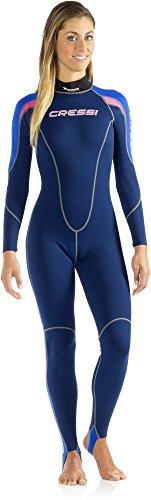 Cressi Neoprenanzug für Frauen, einteilig schwarz Blue/Turquoise/Pink L -