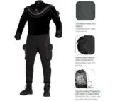 Aqualung WHITES FUSION BULLET SLT - Trockentauchanzug incl. Kopfhaube und Tasche -