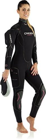 Cressi Atlantis LS - Damen Tauchanzug 7mm Neopren mit Rückenreißverschluss -