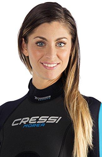 Cressi Damen Einteiliger Tauchanzug Morea All-In-One, Black/White/Blue, S, LU476502 -