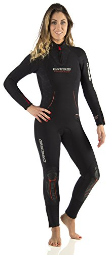 Cressi Damen Tauchanzüge Lontra Plus All-in-One Lady, Black, S, LR104602 -