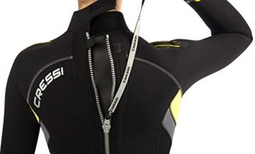Cressi Damen Tauchanzug Castoro 5 mm mit Rückenreißverschluss, Schwarz/Gelb/Grau, XL, LR106705 -
