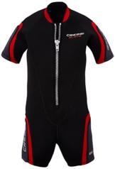 Cressi Unisex - Kinder Neopren Schwimmanzug Playa Junior, schwarz, M-Jahre10/11, LV447003 -