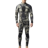 [ Herren Neoprenanzug mit Rückenreißverschluss ] Herren Schutz Anzug Wetsuit Neoprenanzug Tauchanzug Wassersport lang Grau tarnung -iisport -