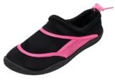 Neopren Damen Mädchen Aquaschuhe Badeschuhe schwarz pink (38/39) -