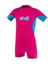 O'Neill Girl's O'Zone Kinder-Feder, Nylon-Elasthan-Anzug, Watermelon/Tahiti/Lunar, Größe 1 -