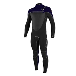 O'Neill Psychotech 5/4mm Chest Zip Wetsuit - Black/ Indica/ Blaze -