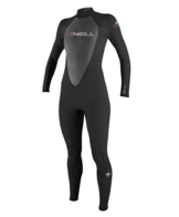 O'Neill Wetsuits Damen Neoprenanzug Reactor 3/2 mm Full Wetsuit, Black, 12, 3800-A05 -