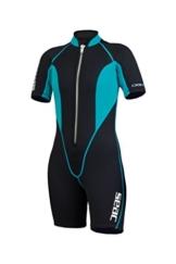 SEAC Damen Neoprenanzug Shorty 2.5 mm CIAO LADY, schwarz/blau, XL, 0010067032105A -
