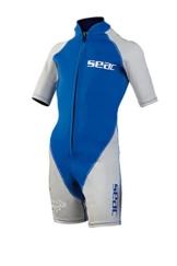 SEAC Jungen Neoprenanzug Shorty Hippo Boy, blau/silber, 5 Jahre -