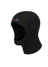 Unisex Neoprenhaube Tauchen Kapuze 3mm Kopfschutz klateschutz Schwarz Wassersport L -