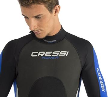 Cressi Herren Einteiliger Tauchanzug Morea All-In-One, Black/White/Blue, L, LU476004 -