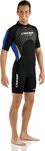 Cressi Herren  Overall Med X Shorty, Black/White/Blue, XL, LV437005 -