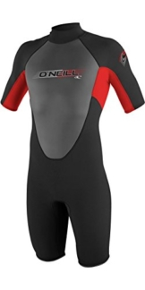 2017 O'Neill Youth Reactor 2mm Back Zip Spring Shorty BLACK / RED 3803 Age / Size - 12 Years -