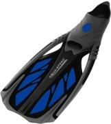 Aqua Speed - Schwimmflosse / Tauchflosse INOX (grau/blau, 42/43) -