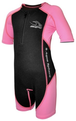 Aqua Sphere Stingray Schwimmanzug Neopren für Kinder pink/schwarz,L-128-8 Jahre -