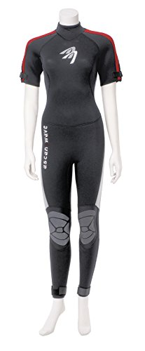 Ascan Wave Shortarmsteamer Kurzarm 4,5 mm Neoprenanzug Surfanzug Damen (36) -