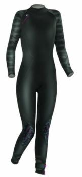 Camaro Damen Surfanzug Ice Tec Semi Dry, schwarz, 76, 924768 -