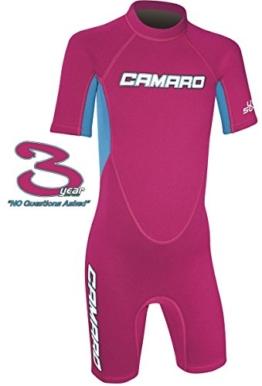CAMARO Flex Kinder Shorty Toddler Reactor Spring Neopren Neoprenanzug Schwimmanzug pink -