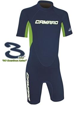 CAMARO Flex Kinder Shorty Toddler Reactor Spring Neopren Neoprenanzug Schwimmanzug blue -
