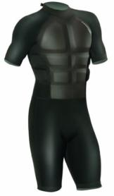 CAMARO Herren Surfanzug Impact Shorty, schwarz, L -