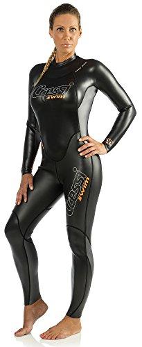 Cressi Damen Anzug Triton, Schwarz/Orange, M/3, DG002303 -