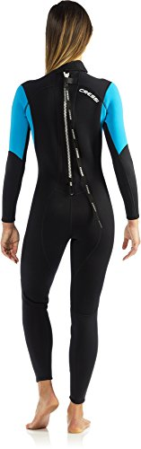 Cressi Damen Einteiliger Tauchanzug Morea All-In-One, Black/White/Blue, S, LU476502 -