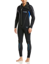 Cressi Herren Tauchanzüge Facile All-in-one Man, Schwarz, M/3, LT471603 -