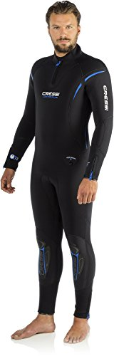 Cressi Herren Tauchanzüge Lontra Plus All-in-One Man, Black, L, LR104504 -