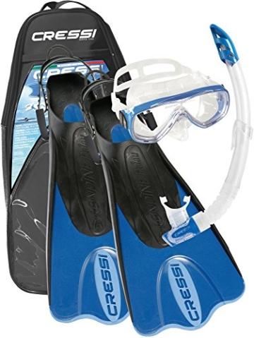 Cressi Unisex Schnorchel-Tauchset, blau, 44/47, CA142544 -