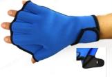 Dooki, Wasserdicht Neopren Webbed Handschuhe Schwimmen Aqua Fit Trainingsübung Flippers Paddel Schwimmhandschuhe, Blau (Mittel) -