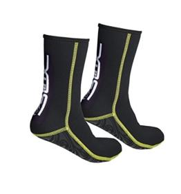 Gresonic 3MM Erwachsene Tauchsocken Neopren Füßling Socken Stretch Wärmeshutz Anti Rutsch für Wassersport Schnorcheln Tauchen Schwimmen-XL -