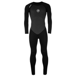 Hot Tuna Herren Taucheranzug Full Langarm Schwimmen Wassersport Bekleidung Klamotten Black/Charcoal Large -