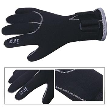 Lemorecn 3mm Neopren Tauchen Handschuhe Neoprenanzug Wetsuits Gloves(S) -