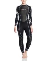 Mares Damen Reef 3tauchversuchen Neoprenanzug, Schwarz/schwarz, Größe S7 -