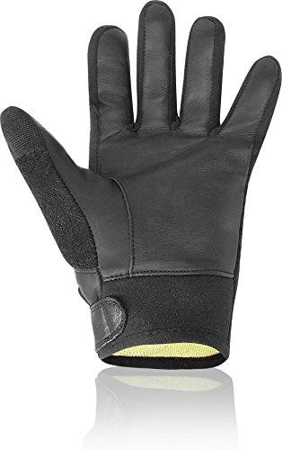 Neopren / Lederhandschuhe mit Kevlar Futter Größe M -