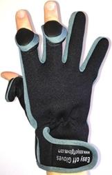 Neopren-Spezialist (Fold-Back Finger Tips) Handschuhe von Easy Off Handschuhe - Ideal für Schießen, Angeln, Gewichtheben, Gartenarbeit, Fotografie und General Work Wear. (Medium EU 9) -