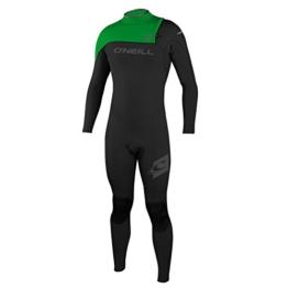 O'Neill Hyperfreak Comp 5/4mm Zipperless Wetsuit - Black/ Green -