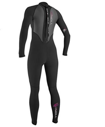 O'Neill Wetsuits Damen Neoprenanzug Reactor 3/2 mm Full Wetsuit, Black, 12, 3800-A05 -