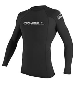 O'Neill Wetsuits Herren Basic Skins S Crew Rash Vest, Black, L -
