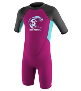 O'Neill Wetsuits Kinder Toddler Reactor Spring Neoprenanzug, Berry/Ltaqua/Graph, 2 Jahre -