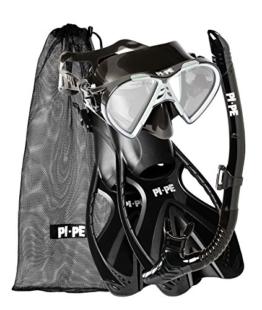 PI-PE Erwachsene Active Schnorchelset, Black, ML/XL -