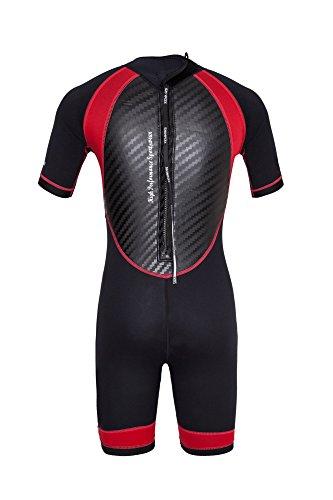 SCOUT, Kinder Neoprenanzug, rot, 147 cm - 155 cm, SKINFOX, Shorty, Surfanzug -