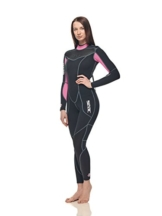 SEAC Damen Sense Long 3mm Neoprenanzug, Rosa, XL -