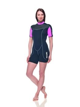 SEAC Damen Sense Short 2,5mm Neoprenanzug, Rosa, XXL -