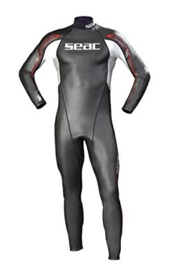 SEAC Herren Neopren Schwimmanzug 2mm Shape, schwarz/silber/rot, 56, 0010016/06 -