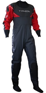 Typhoon Hypercurve 3 B/Z Drysuit with Socks Black/Red 100143 Inc Fleece Sizes - XLarge -