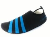 WeWee Bequeme Barfußschuhe aus elastischen Neopren, Blau, Gr.40-41 (Herstellergröße XL) -